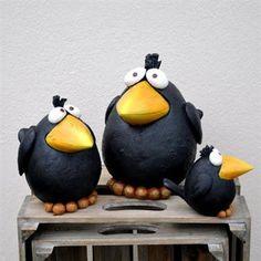New No Cost Clay pottery birds Strategies Vogel Clay Birds, Ceramic Birds, Ceramic Animals, Ceramic Clay, Polymer Clay Animals, Polymer Clay Crafts, Pottery Animals, Paper Mache Crafts, Cement Crafts