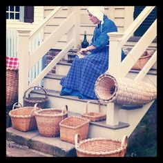 Basketmaking Near the Capitol in the Revolutionary City.
