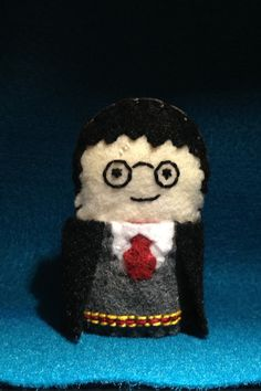Harry Potter Inspired Finger Puppet by TwoHeartTreasures on Etsy, $10.00