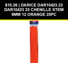 Darice Chenille Stems 6mm Orange