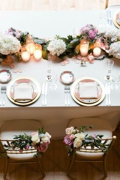 Some weddings are undeniably pretty, no matter what your style, and this chic Chicago wedding is certainly one of them. Photos by Emilia Jane Photography. Pink Wedding Receptions, Wedding Chairs, Reception Decorations, Reception Ideas, Wedding Table, Mod Wedding, Dream Wedding, Purple Wedding, Floral Wedding