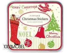164 Aufkleber im Vintage-Stil auf 24 Bogen  Diese wunderschönen Weihnachtsaufkleber Vintage Christmas Stickers von Cavallini & Co. überzeugen durch hochwertiges Papier mit toller Haptik und ihrem...