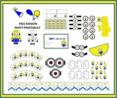 Minion+Party+printable+Collage.png (1491×1253)