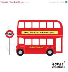 25% OFF SALE London Double Decker Bus Digital Clip Art Set May 06, 2014 at 08:10AM London Bus, London City, England Party, Sightseeing Bus, Double Decker Bus, Clip Art, Expo, Busy Book, Art Of Living