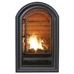Hearth Sense A-Series Vent-Free Fireplace Insert, Black, Propane Gas