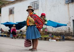 """On the Street…….Town Square in a Little Village, Peru"" #The Sartorialist"