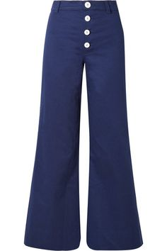 Navy cotton-blend Button fastenings along front 97.5% cotton, 2.5% Lycra Dry cleanSmall to size. See Size & Fit notes.