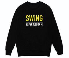 Super Junior SJ-M SWING Kpop Hoodies Pullover Moleton Harajuku Boyfriend Style Unisex Sweatshirt Black Cotton Coat Women Men