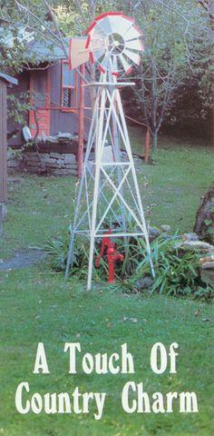 8 Foot American Style Garden Windmill