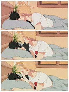 *silenty screaming* sasuke pokes narutos forehead #narusasu #sasunaru