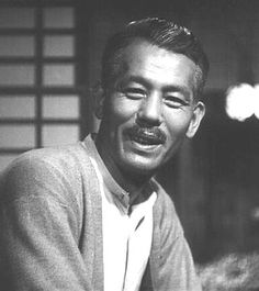 Japanese actor Chishu Ryu.  His long film career featured an almost perennial portrayal of elderly roles, long before he became elderly.  Most of his work was done for director Yasujiro Ozu.