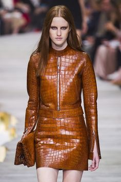 Double python, double ochre, double thumbs up @Roberto_Cavalli #MFW #SS15