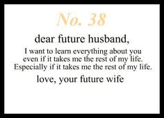 Love Notes To My Future Husband : Photo