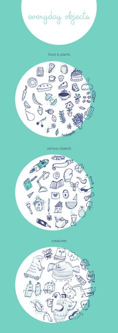 Everyday Objects Free Sketchy Vectors download at  4vector.com via @4vector