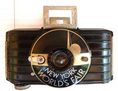 Ultra Rare Art Deco ~ 1939 NY Worlds Fair KODAK Camera Bakelite w/ extras