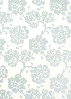 Albero Floreale Aqua Wallpaper @Sarah Nasafi Grayce