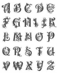 Viva Capital Alphabet Wielkie Litery Monogramy Alfabet 045