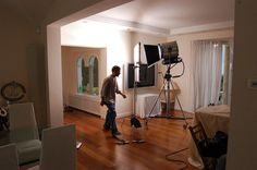Writer, artist and filmmaker David De Bartolome on set.