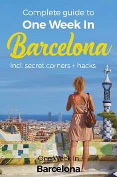 Welcome to One Week In Barcelona! Excited? You should be, there's a lot to explore. We are keen to share here our best insider tips to spend One Week In Barcelona. We introduce you to the different neighborhoods, unique experiences, and restaurants and coffee shops to enjoy your day. http://one-week-in.com/barcelona/