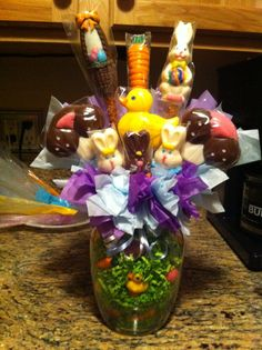 Easter candy bouquets
