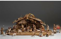 29 Piece Kostner Nativity Set - Woodcarvings of the Birth of Christ by PEMA Reggio Emilia, Cabana, Holy Art, The Birth Of Christ, Miniatures, Nativity Scenes, Holiday, Painting, Crafts