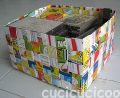 How to make baskets from recycled paper - Cucicucicoo