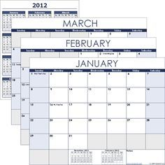 excel A simple to use free calendar template for Excel. Each month is on a separate worksheet.