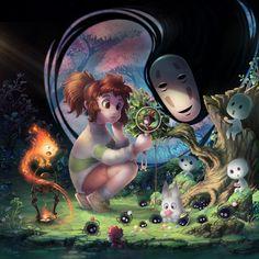 Miyazaki Tribute by *Channel-Square on deviantART