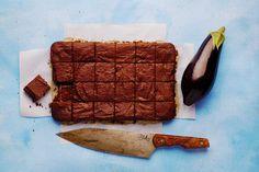 Chocolate eggplant brownies
