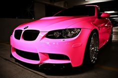 BMW M3 Pink ☆ Girly Cars for Female Drivers! Love Pink Cars ♥ It's the dream car for every girl ALL THINGS PINK!