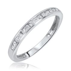 Fashion Concept Exclusive White Gold Wedding Diamond Rings For Women With 1.38 Carat Tw Wedding Band