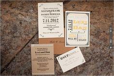 yellow and brown wedding invites for a Montana wedding | VIA #WEDDINGPINS.NET