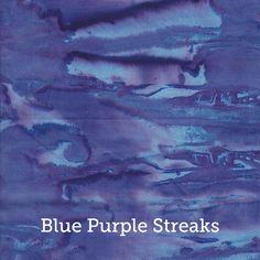 """Blue Purple Streaks Batik Print, 20x20"""" Pillow Case by SelemeHealth"""