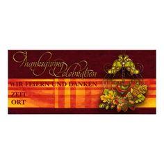 """Einladung """"Thanksgiving Celebration"""" Vers01, Text kann individuell eingetragen und gestaltet werden. Grafik und Entwurf bei ArianneGrafX©2012"""
