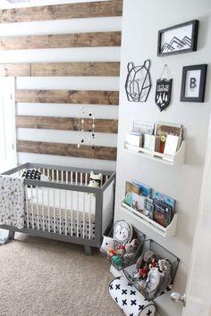 63 Rustic Baby Boy Nursery Room Design Ideas - prego - Baby World Baby Bedroom, Baby Boy Rooms, Baby Boy Nurseries, Nursery Room, Girl Nursery, Nursery Decor, Kids Bedroom, Rustic Baby Rooms, Rustic Nursery Boy