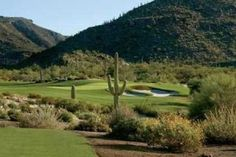 Golf courses in the middle of the Sonoran desert of Arizona.  You don't have to worry about rain very often!