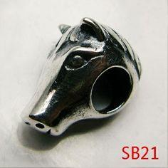 13x11x5mm Animal Head 925 Sterling Silver Jewelry European Beads
