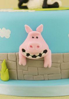 Pig cake close up