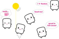 Image result for cute marshmallows with faces wallpaper