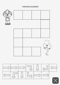 Learning Numbers Preschool, Kids Learning Activities, Kindergarten Activities, Coding Classes For Kids, English Lessons For Kids, Kids Education, Cognitive Activities, Programming For Kids, Worksheets For Kids