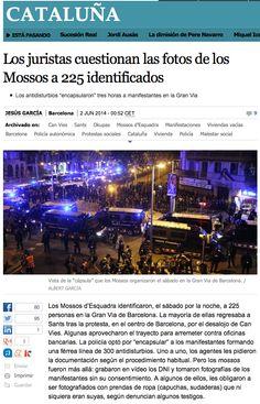 """Nova vulneració de drets per part de la policia. Actuacions directament inconstitucionals. Obliguen a posar-se peces de roba (a bufetades, tal qual!) i fan les fotos al seu gust. Al més pur estil macarra-mafiós. Per a fer aquesta feina no cal una policia """"catalana"""" (no sé si n'hi ha gaires, de catalans), els mercenaris ho farien igual o millor. Bé, potser la diferència és insignificant."""