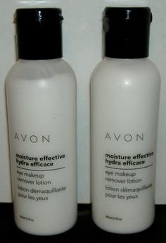 AVON MOISTURE EFFECTIVE EYE MAKEUP REMOVER LOTION...the best product i've ever used.