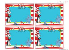FREE Dr Seuss Birthday Party Printables!