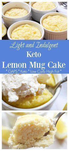 Keto Lemon Lemon Mug Cake Recipe (GAPS & Dairy Free Option) - Health, Home, & Happiness