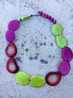 Los Rios Sunset Necklace in Lime. Shop for this and many more items at Emma Laura in Dublin GA in Ivy Place shopping center. You can also purchase by phone at 478-272-2095 or shop our website at www.emmalaura.com.