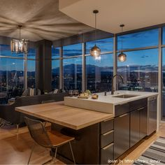 Beautiful Modern Kitchen: This is a Hard Maple Wide Plank Countertop by Armani Fine Woodworking in Denver's Glass House. Custom Butcher Block, Hidden Cabinet, Butcher Block Countertops, Wide Plank, Glass House, Fine Woodworking, Beautiful Kitchens, Kitchen Remodel, Kitchen Design
