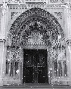 Elise Wehle :: At the Gates 3 - Limited Edition Giclée Print Paper Artwork, Mixed Media Art, Barcelona Cathedral, Giclee Print, Around The Worlds, Gates, Architecture, Artist, Painting