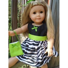 Zebra Limegreen Dress with purse
