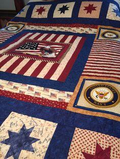 Quilt of Valor - honoring a Navy Verteran