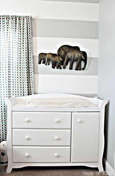 Since elephant has been a big trend lately for nurseries and baby showers (and who doesn't think that they are the cutest thing?)